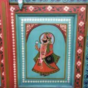 k74 13 indian furniture cabinet hand painted figures aquamarine figure 2