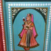 k74 13 indian furniture cabinet hand painted figures aquamarine figure 4
