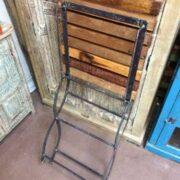 k74 2498 indian furniture chair folding reclaimed iron folded