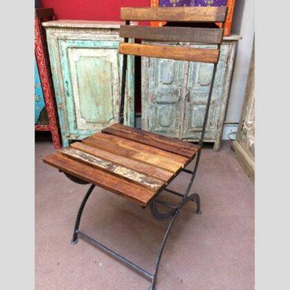 k74 2498 indian furniture chair folding reclaimed iron main
