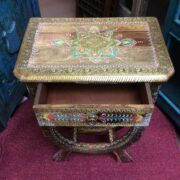 k74 62 indian furniture side table hand painted unique open