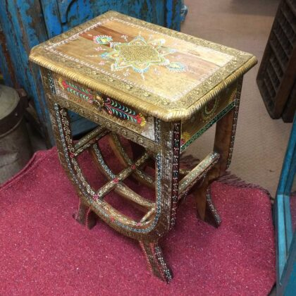 k74 62 indian furniture side table hand painted unique main
