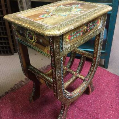 k74 62 indian furniture side table hand painted unique side