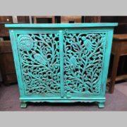 k74 79 indian furniture sideboard carved agua green main