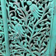 k74 79 indian furniture sideboard carved agua green close right