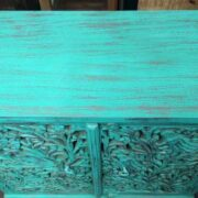 k74 79 indian furniture sideboard carved agua green top