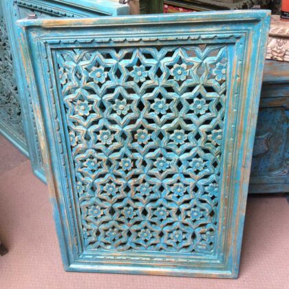 k74 90 indian accessories wall panel agua green carved star main