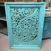 k74 91 indian accessories wall panel agua green carved lower arch main