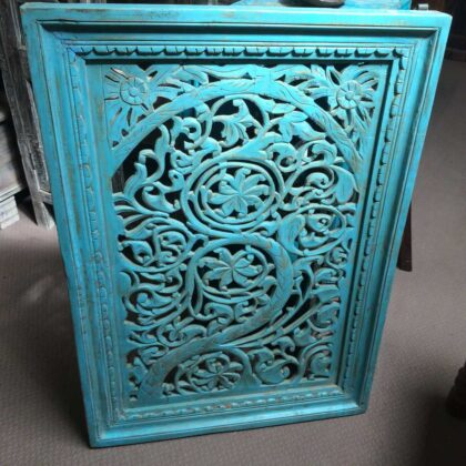 k74 92 indian accessories wall panel agua green carved upper arch main