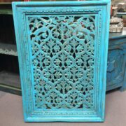 k74 94 indian accessories wall panel agua green hand carved leaf diamond main