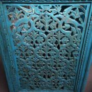 k74 94 indian accessories wall panel agua green carved leaf diamond close