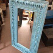 k74 100 indian furniture mirror nodule blue large right