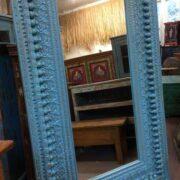 k74 100 indian furniture mirror nodule blue large left