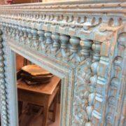 k74 100 indian furniture mirror nodule blue large close left