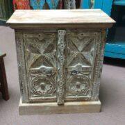 k74 3299 indian furniture bedside cabinet white carved main