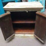 k74 3299 indian furniture bedside cabinet white carved open