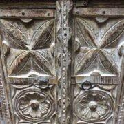 k74 3299 indian furniture bedside cabinet white carved close