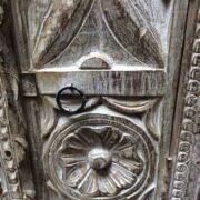 k74 3299 indian furniture bedside cabinet white carved close right