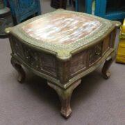 k74 61 indian furniture coffee table unusual 4 side drawers top