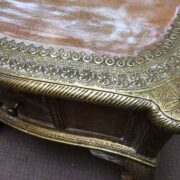 k74 61 indian furniture coffee table unusual 4 side drawers close