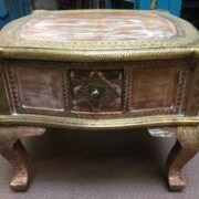 k74 61 indian furniture coffee table unusual 4 side drawers front