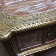 k74 61 indian furniture coffee table unusual 4 side drawers edge