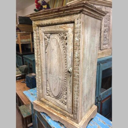 k74 78 indian furniture small old cabinet carved door main