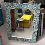 k74 97 indian furniture mirror carved blue main