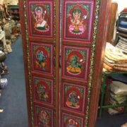 k74 14 indian furniture cabinet red hand painted ganesh main