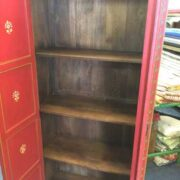 k74 14 indian furniture cabinet red hand painted open