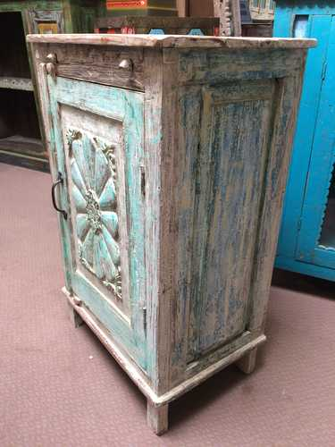 k74 3100 old floral door cabinet mint right
