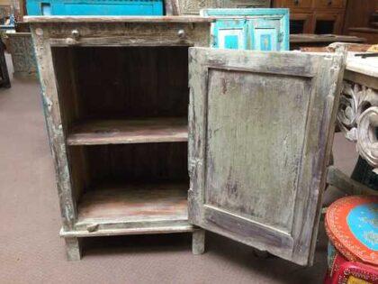 k74 3100 old floral door cabinet mint open