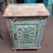 k74 3100 old floral door cabinet mint top