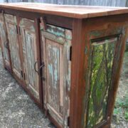 k74 544 indian furniture sideboard shallow 4 door right