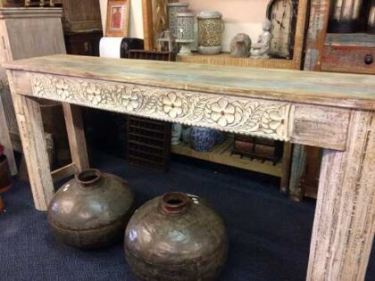 k74 77 indian furniture white hand carved large console shop